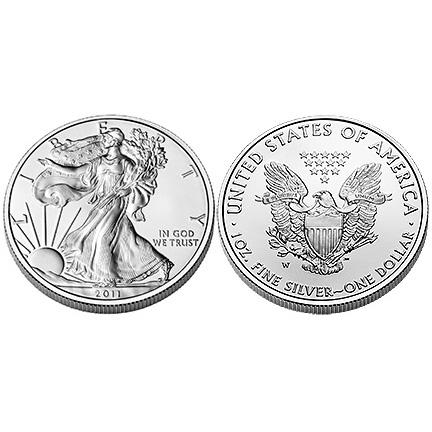 Silbereagle der USA - Kassenschlager im Jahr 2011
