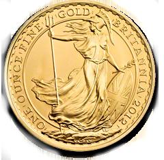 Britannia Goldmünze der British Royal Mint