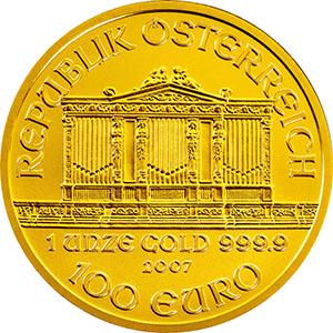 Wiener Philharmoniker Goldmünze - so sieht sie in echt aus...