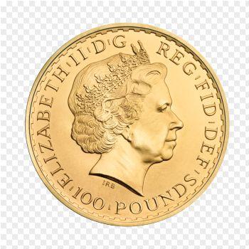 Queen Elisabeth auf der Britannia Goldmünze