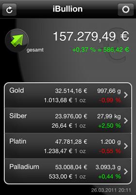 iBullion - Bullion-Investor App Screenshot 1