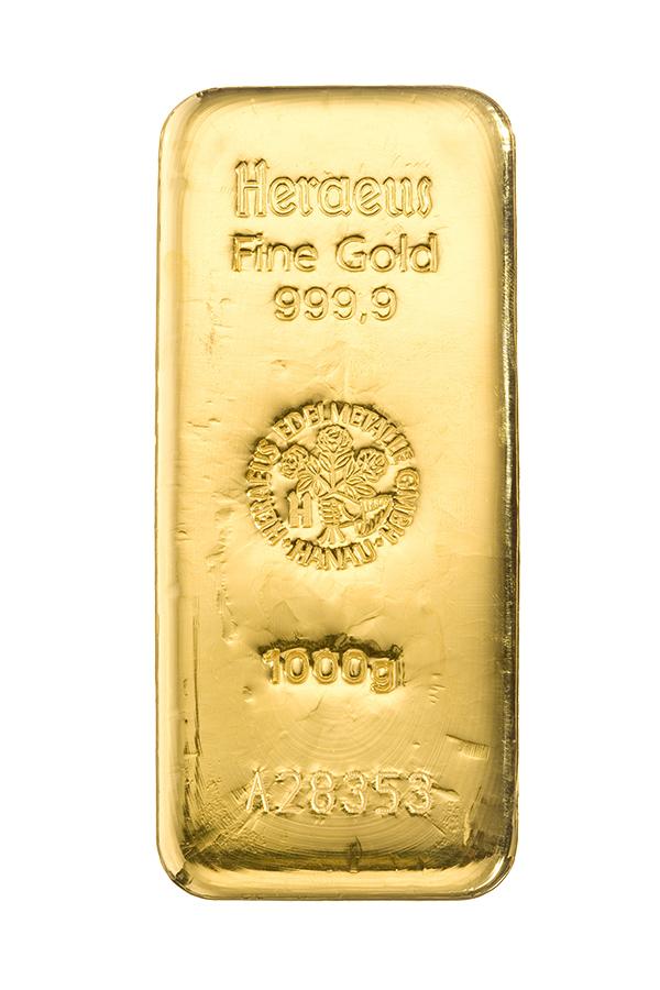 So sieht ein echter Goldbarren aus...