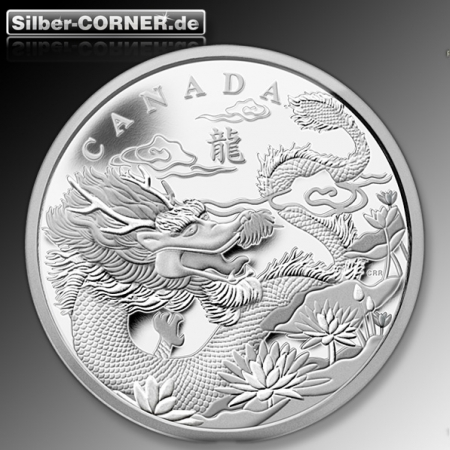Lunar Drache Canada 2012 1 KG Silber Proof