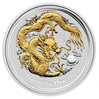Perth Mint Australian Lunar Year of the Dragon 2012 gilded