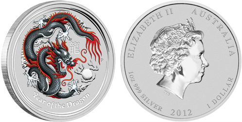 Black Dragon der Perth Mint - Drachen 2012 mit nur 5000 Stck. Auflage
