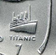 Titanic-Privy auf der 1998er Maple Leaf - Ausgabe sieht realitätsnäher aus