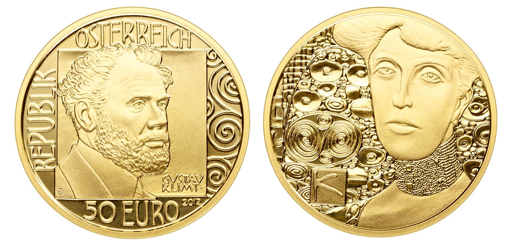 Klimt Goldmünze Adele Bloch Bauer aus Österreich