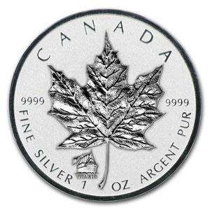 Maple Leaf mit Titanic Privy - 1oz Silber aus Kanada 2012