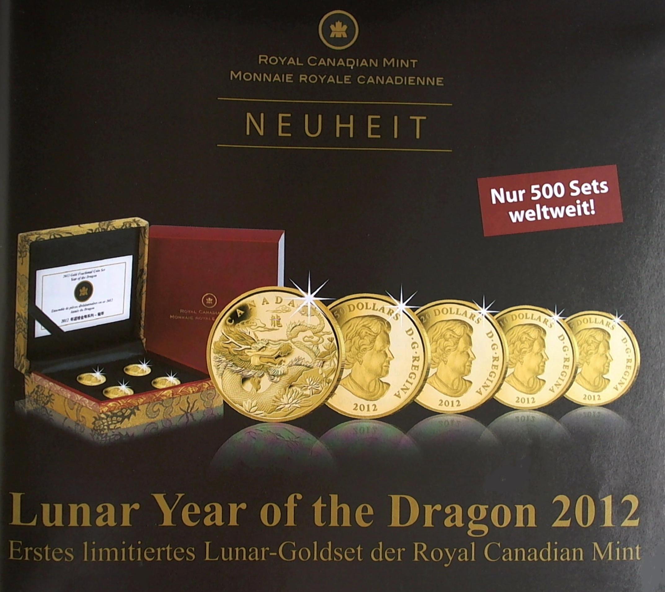 Drachen aus Canada - rares Set mit Auflage von nur 500 Stück weltweit