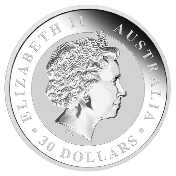 Queen-Seite einer Kilo-Koala Münze - in 2011 stark nachgefragt