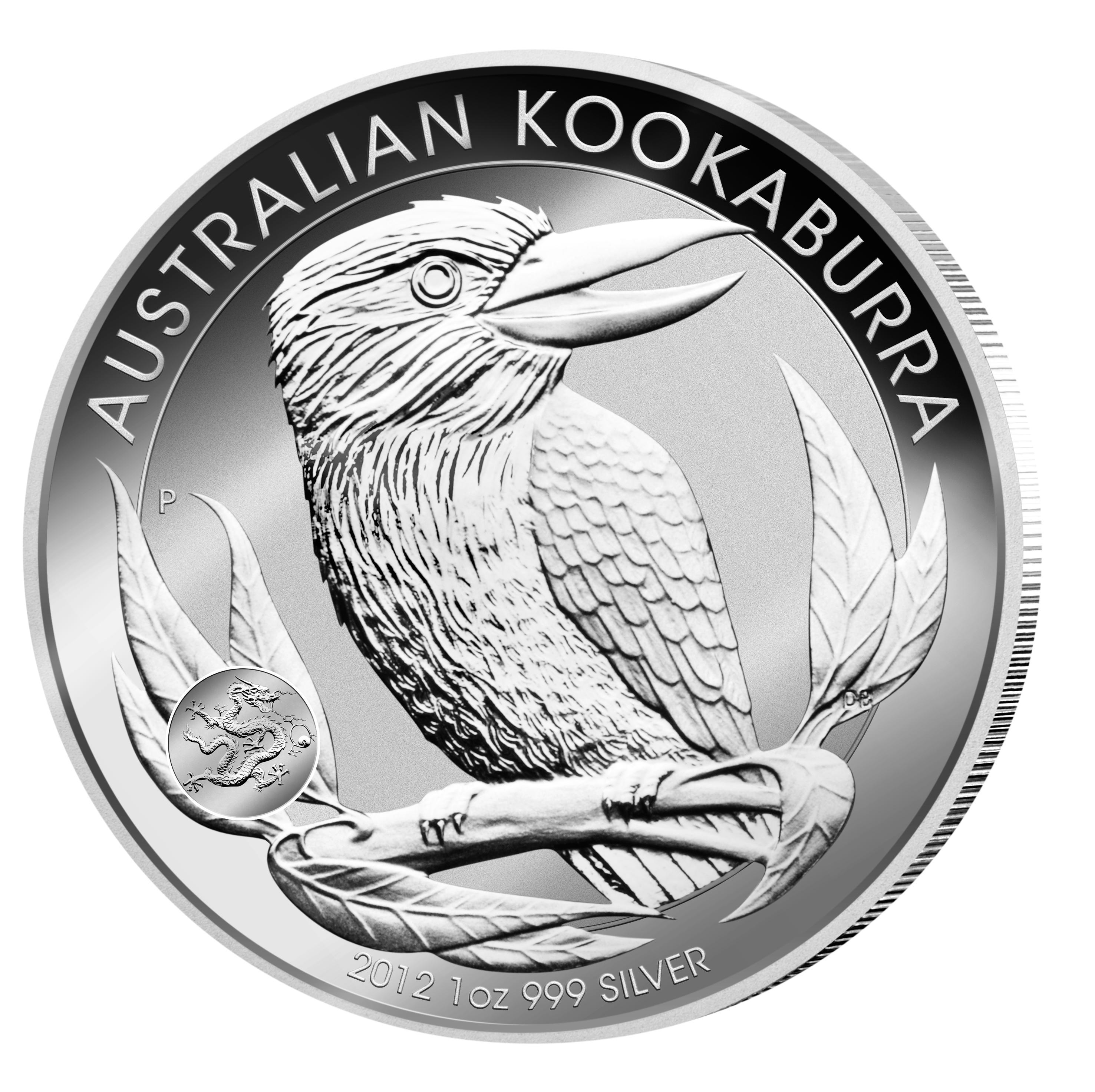 Kookaburra Silber 2012 mit Privymark Drachen - Auflage nur 80.000 Stück