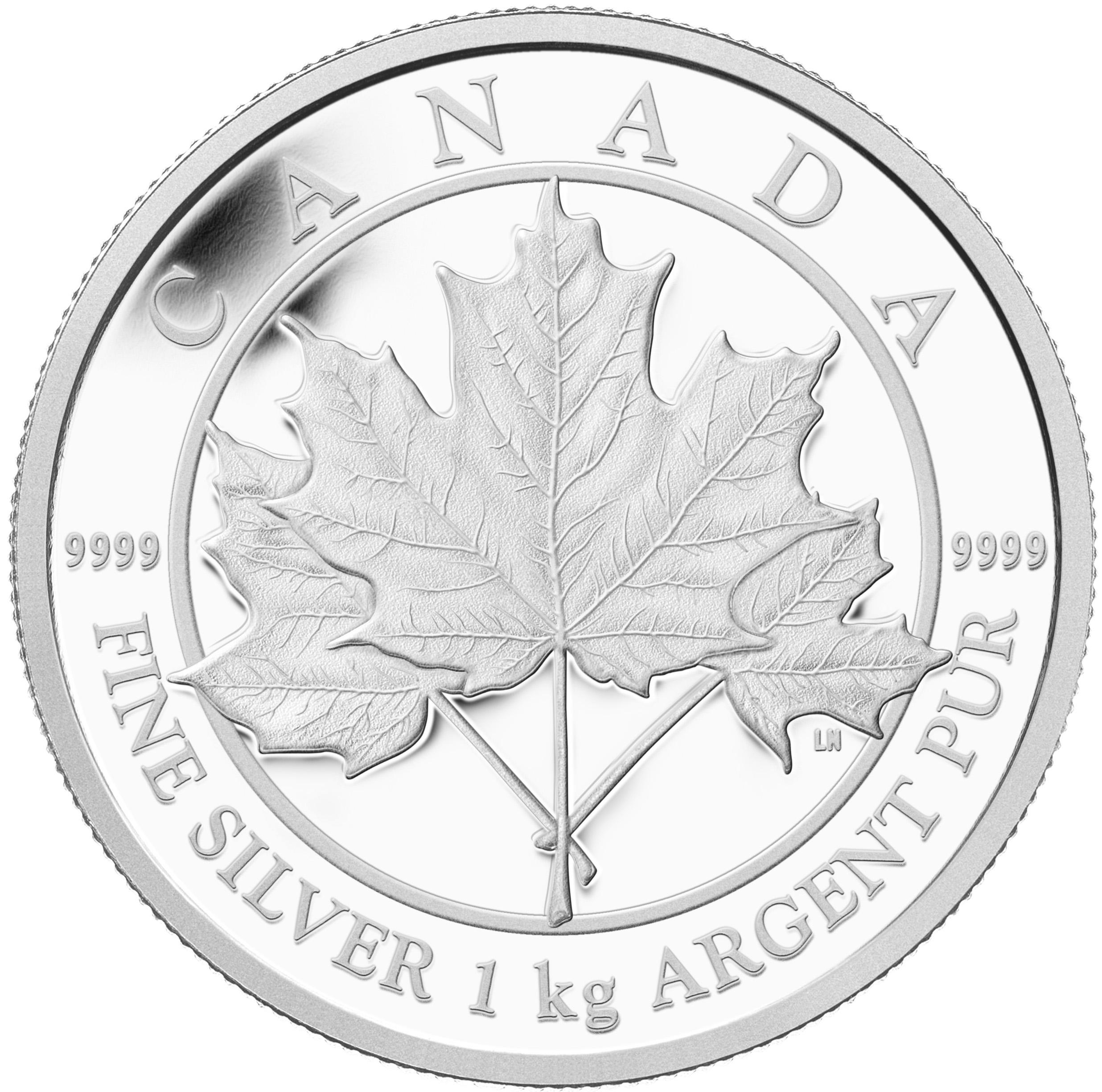 Der Kilo-Maple Leaf 2012 wirkt gegen die 5kg-Münze fast schon klein