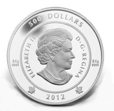 5kg Silber aus Canada - Queenseite