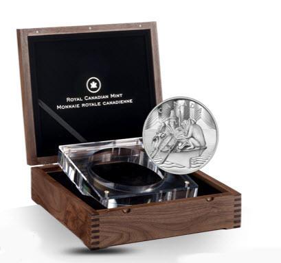 5-Kilo-Silbermuenze aus Kanada - 5kg Silber in repräsentativer Box