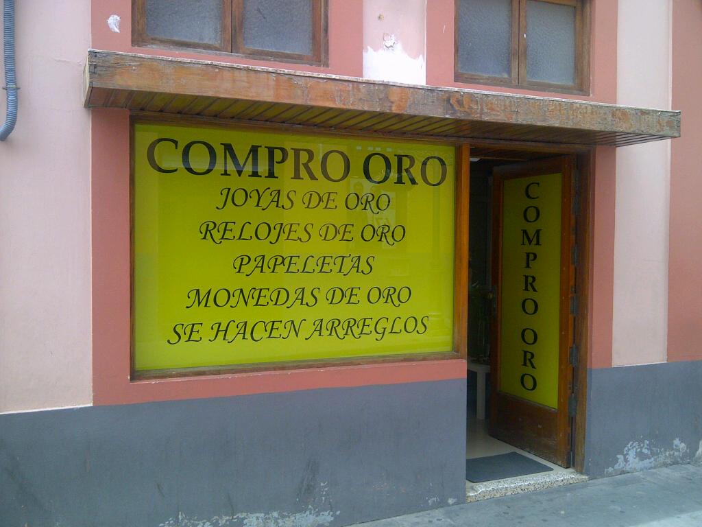 Bei 20% Arbeitslosigkeit gibts in Spanien jetzt Goldankauf-Geschäfte an jeder Ecke
