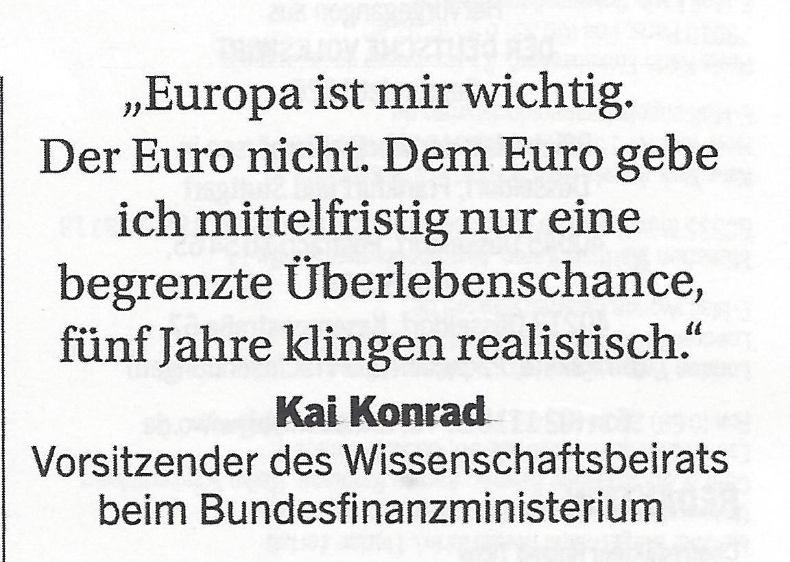 Euro ist ein Auslaufmodell