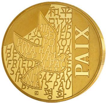 Motivseite der Goldmünze zum Nennwert