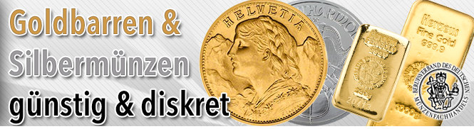 Gold & Silber günstig online ordern