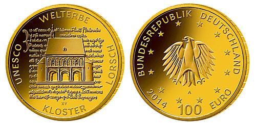 100 Euro Goldmünze Kloster Lorsch