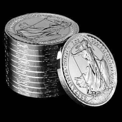 1oz Silbermünze Britannia 2014 Privy Mark Pferd
