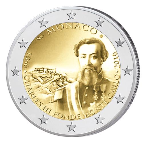 Monaco 2 Euro-Gedenkmünze 2016 — 150. Jahrestag — Gründung Monte Carlos
