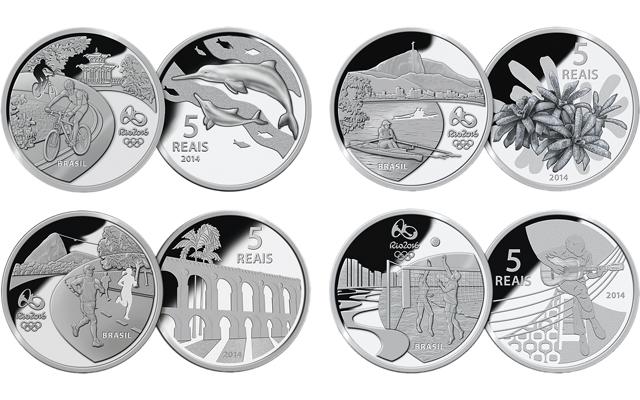 Silbermünzen Olympische Spielen 2016 Rio de Janeiro