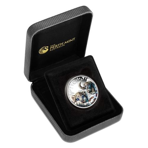 The Cubs 2016: Snow Leopard 1/2oz Silber Colored Proof COA