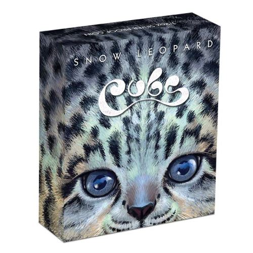 The Cubs 2016: Snow Leopard 1/2oz Silber Colored Proof Verpackung
