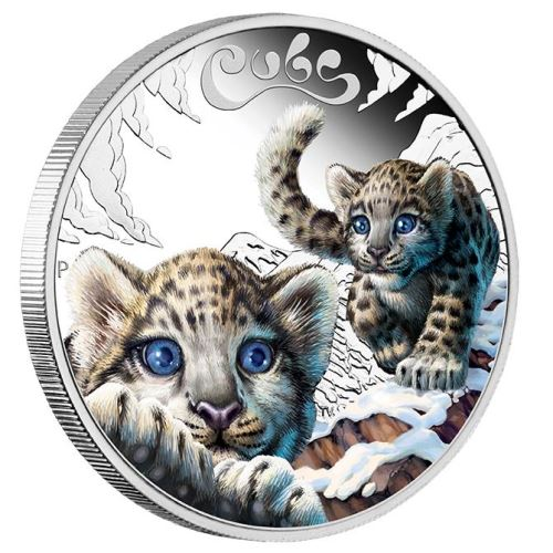 The Cubs 2016: Snow Leopard 1/2oz Silber Colored Proof