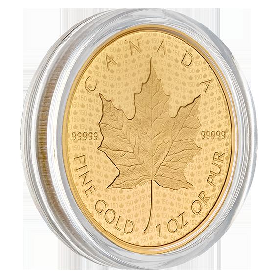 Maple Leaf 2017 99999 Goldmünze — Kapsel — Canada 150 Iconic Maple Leaf Capsule