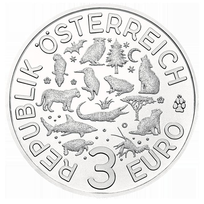 Die Fledermaus 2017 3 Euro Tier Taler Münze österreich Goldreport