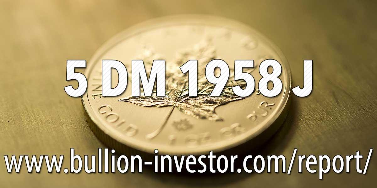 5 Dm 1958 J Warum Ein 5 Dm Stück Viele Hundert Euro Wert Ist
