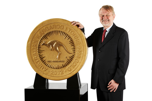 Grösste Goldmünze der Welt 1000 Kilo Känguru Australie