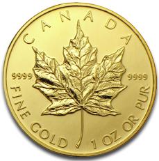 Maple Leaf Goldmünze aus Kanada