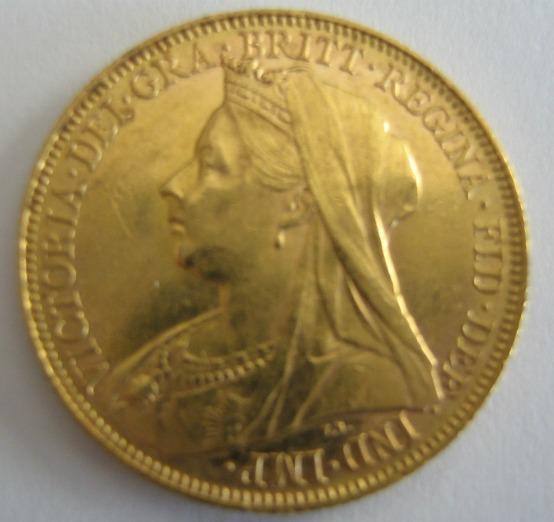 Sovereign 1900 Victoria Gold