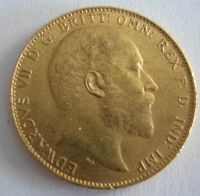 Sovereign Edward 1910 Gold