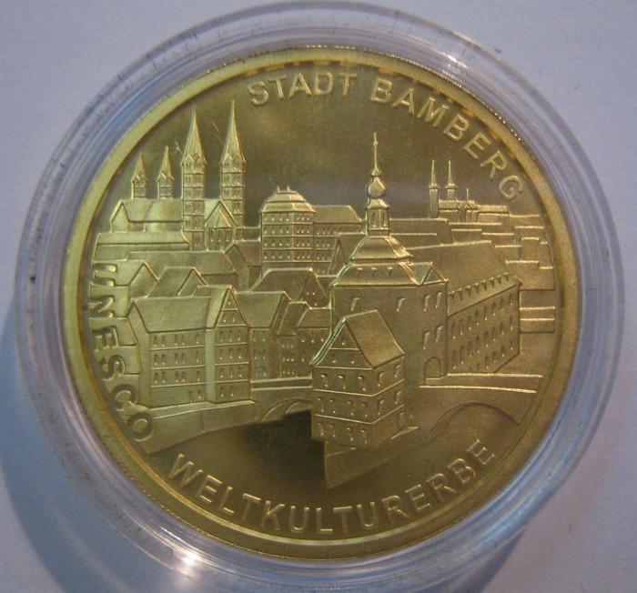 Goldeuro 100 Euro 2004 Bamberg Stadtseite