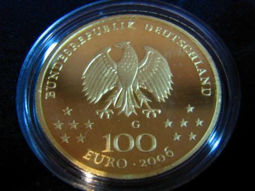 Goldeuro 100 Euro 2006 Weimar - Nennwertseite