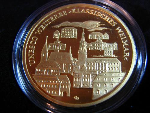 Goldeuro 100 Euro 2006 Weimar - Stadtansicht