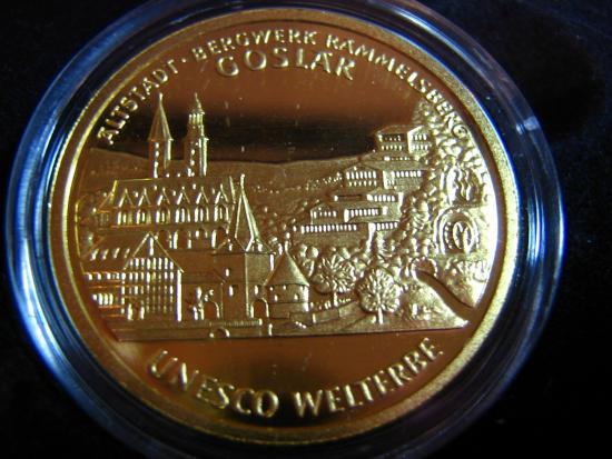Goldeuro 100 Euro 2008 Goslar Stadtseite