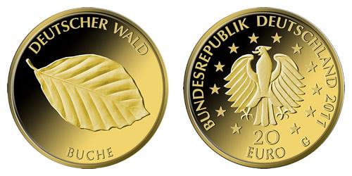 20 Euro Buche 2011 1/8 oz Gold