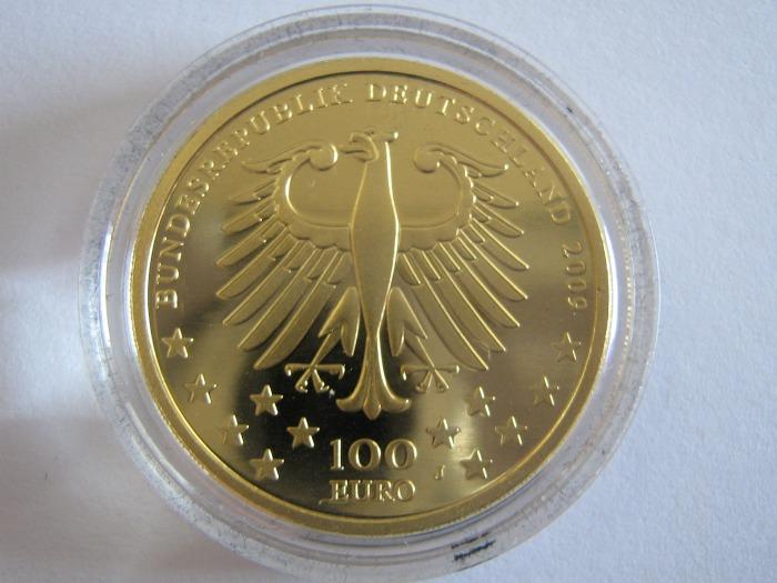 Goldeuro 100 Euro Trier 2009 Nennwertseite