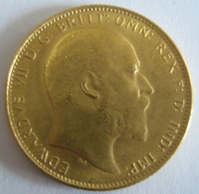 Sovereign mit dem Kopf von EDWARD sind in Griechenland als Goldmünze besonders beliebt