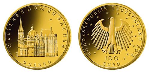 Goldpreis plus 50 Euro war der Ausgabepreis des Aachen Goldeuros