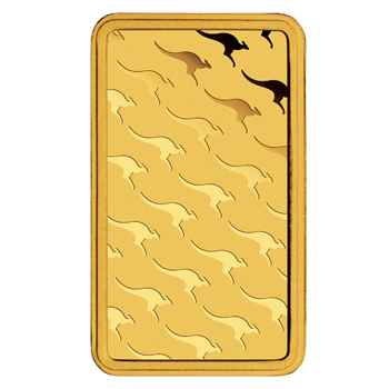 Rückseite eines echten Perth Mint Goldbarrens