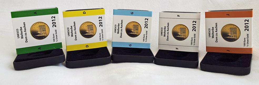 Goldeuroschuber für die Goldeuros Aachen (Ausgabepreis= Goldpreis + 50 Euro)