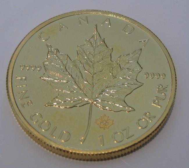Gold Maple Leaf mit neuem Sicherheitsmerkmal