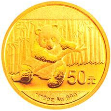 China Gold Panda 1/10 oz 2014
