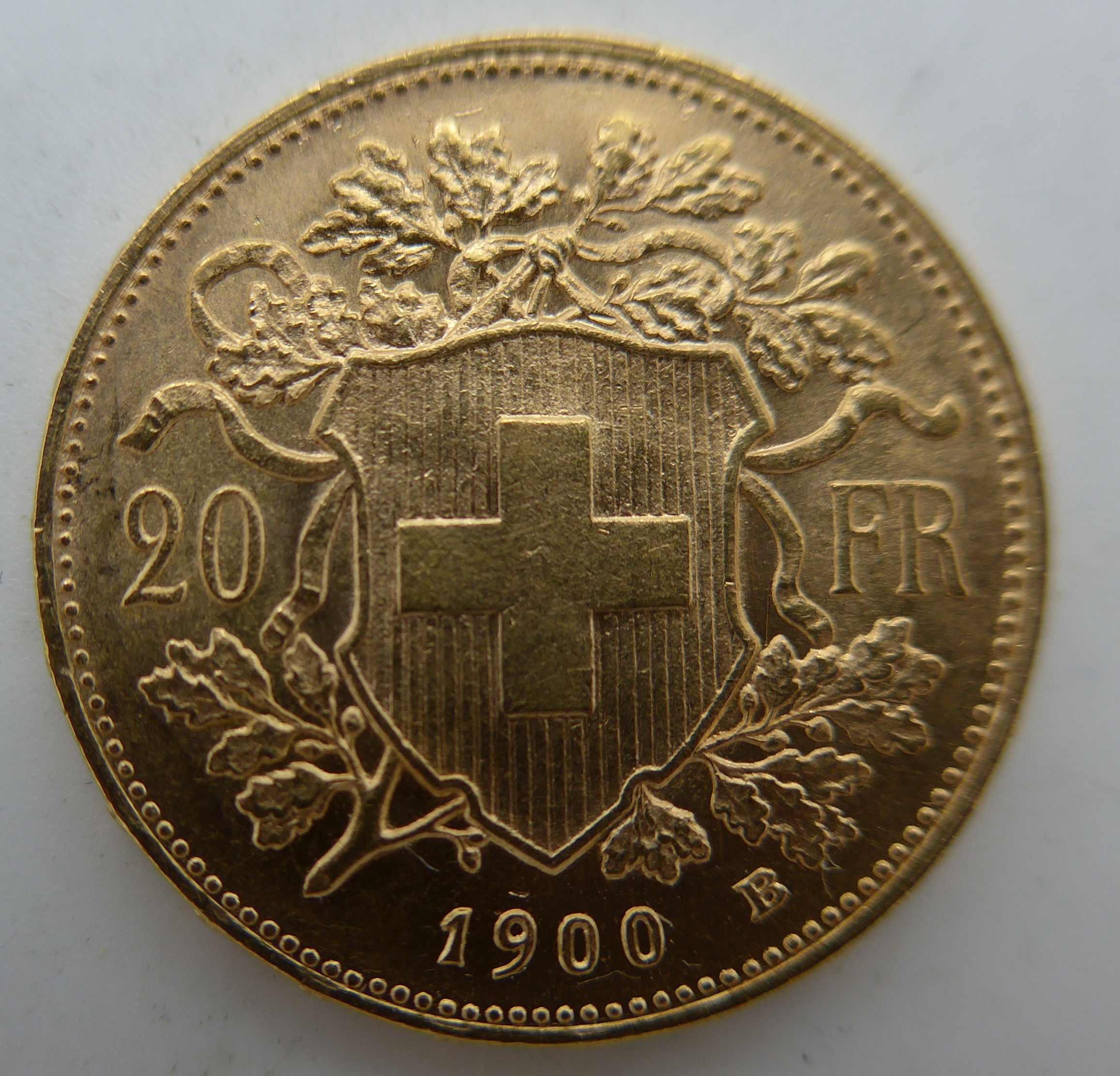 Vreneli 1900 Goldmünze