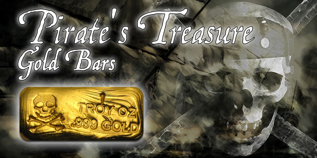 Pirates Goldbars — Goldbarren USA (Infografik)
